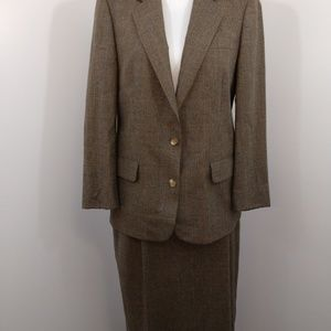 Austin Reed Camel Tweed Skirt Suit Size 6